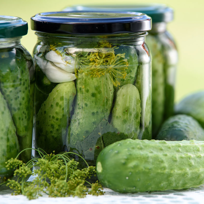 Jar of pickles for chasing bourbon shot
