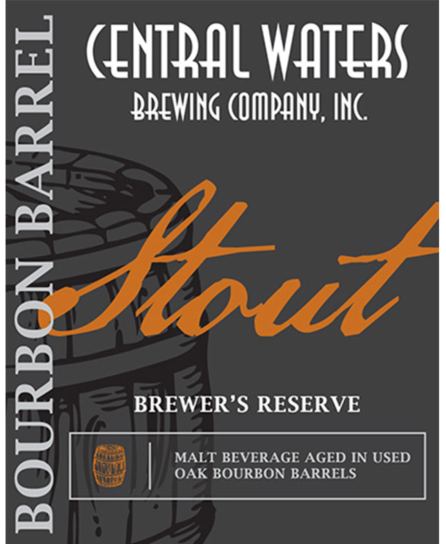 Bourbon Beer Central Waters Brewer's Reserve Bourbon Barrel Stout