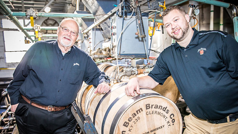 Fred Noe Master Distiller at Jim Beam with his son Freddie Noe IV