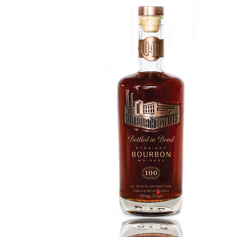 Bottled in bond Old Fourth Distillery Bourbon