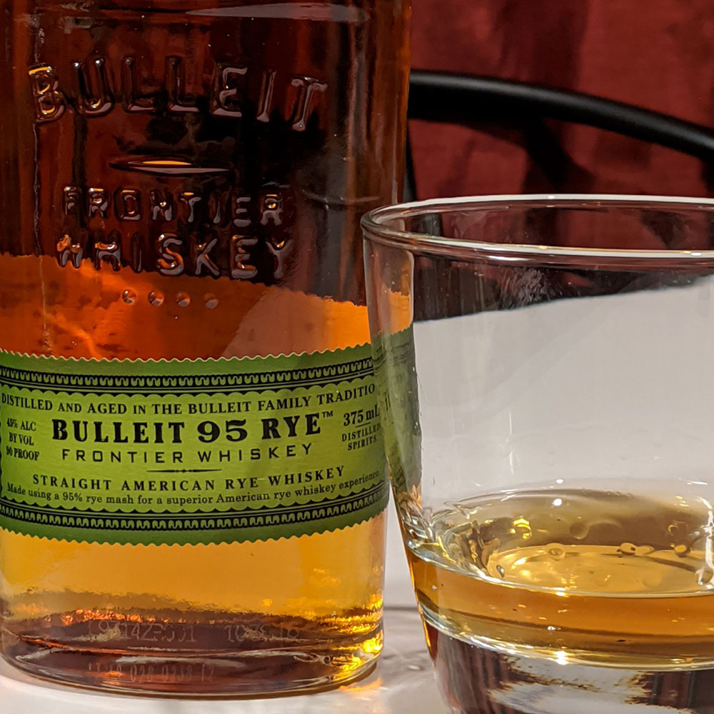 Bulleit Rye 95 Whiskey In Glass